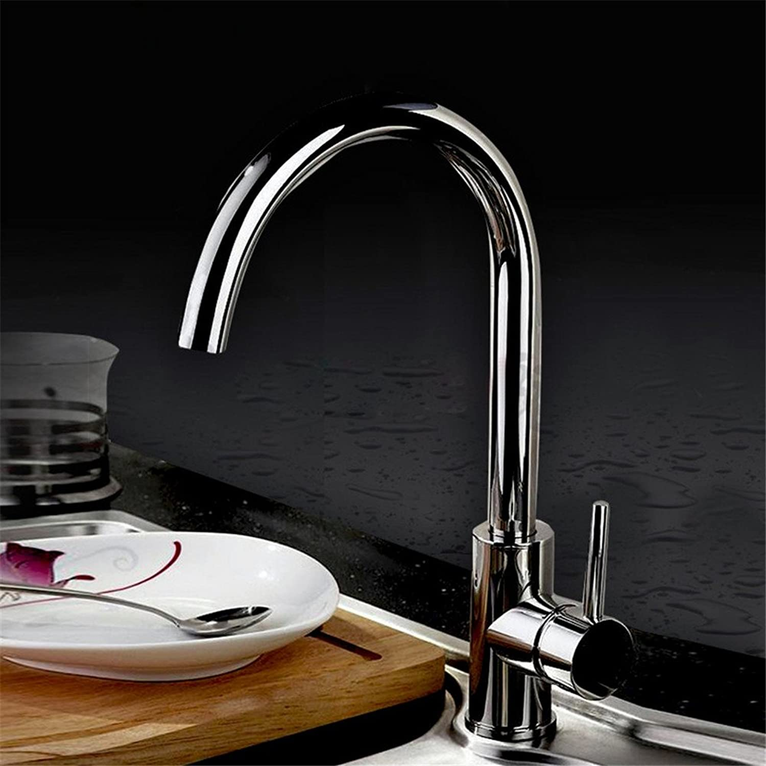 Hlluya Professional Sink Mixer Tap Kitchen Faucet All-in-One 360-degree swivel kitchen sink hot and cold full copper Faucet