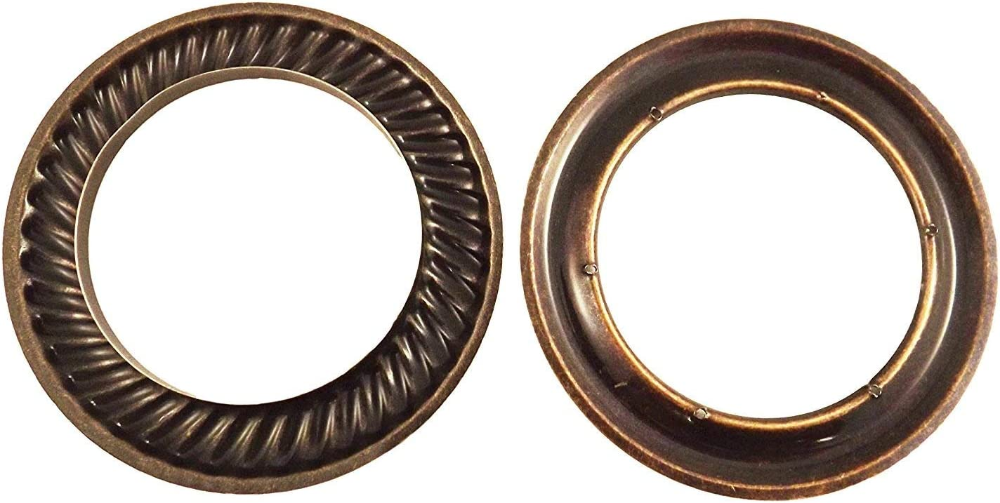 Pack of 10 50//100 pcs Large Antique Brass Design #12 Metal Curtain Drapery Hardware Supplies #12-1 9//16 inch Inner Diameter Decorative Grommet//Rings w//Washer Eyelet Lot of 10//25