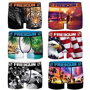 Freegun – Lote de 6 bóxers para hombre