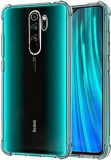 QHOHQ Case for Xiaomi Redmi Note 8 Pro,Transparent Ultra Slim Soft Silicone TPU Anti-Fall Case Xiaomi Redmi Note 8 Pro transparent
