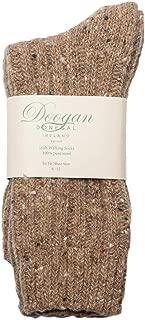 Doogan Donegal 100% Pure Wool Irish Walking Socks, Fawn Fleck Colour