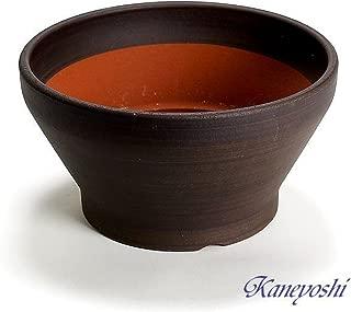 鉢 三河焼 KANEYOSHI 【日本製/安心の国産品質】 陶器 植木鉢 ナチュラル ブラウン 8号