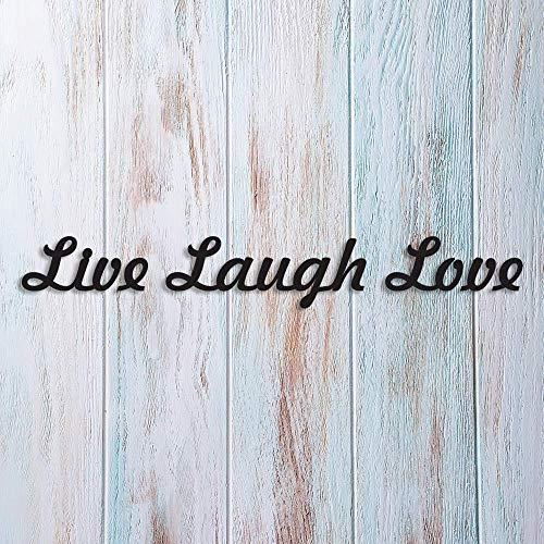 Letrero con texto en inglés 'No brand', con monograma, texto en inglés 'Live, Laugh Love', para decorar la pared del hogar, juego de 3 letras cursivas de amor, cartel de risa, letrero en vivo, monograma, palabras de 14 pulgadas