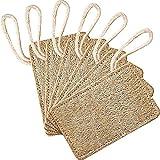 Esponjas naturales para lavar platos (6 unidades), Ylinova esponja orgánica de lufa respetuosa con el medio ambiente para lavar esponjas de cocina, estropajo, no rayan
