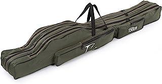 Lixada Portable Plegable Barra de Pesca Carrier Lienzo de Pesca Herramientas de Bolsa de Almacenamiento Caso