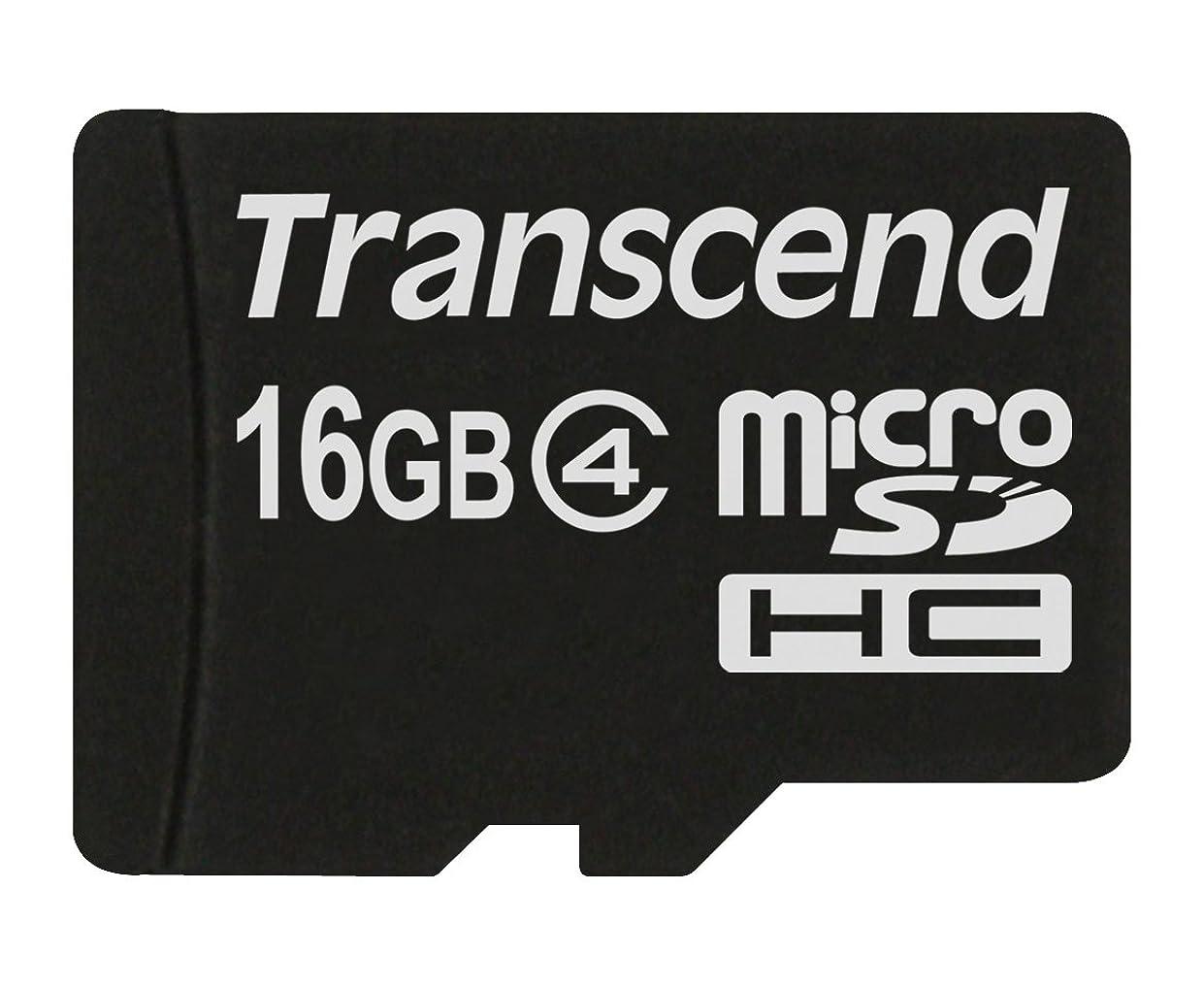 飾り羽ウィスキー熱心Transcend microSDHCカード 16GB Class4 変換アダプタ無し TS16GUSDC4