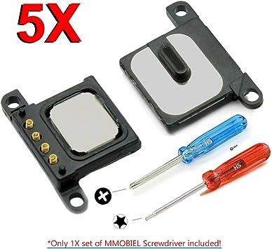 MMOBIEL Paquete de 5 Repuesto Ensamblaje Auricular-Altavoz Ear Speaker Compatible con iPhone 6, Incl 2X Destornilladores