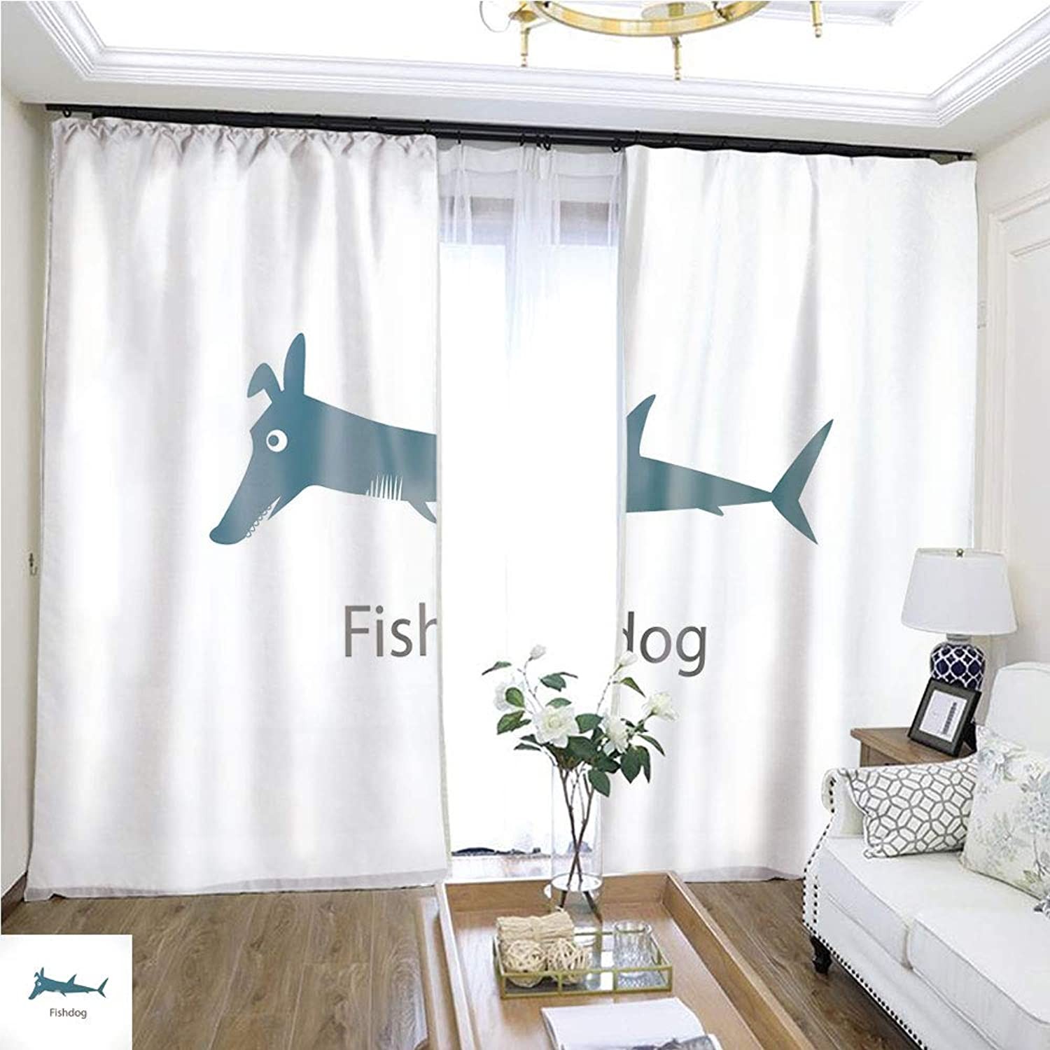 Air Port Screen Fish Dog W96 x L156 Create Warmth in Winter Highprecision Curtains for bedrooms Living Rooms Kitchens etc.