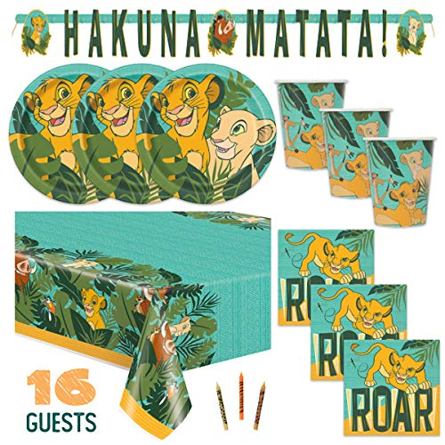 Lion King Birthday Party Supplies (Set of 16)