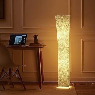 LEISA スタンドライト フロアスタンド フロアライト フロアランプ 和風の暖かい柔光シンプル創意フロアスタンド フロアライトフロアランプ 間接照明 おしゃれ& LED電球2個 プレゼント(132X20CM)