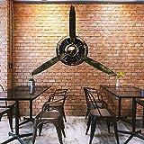 ZHANGYY Metall Vintage Flugzeug Propeller Wanddekoration, Wandskulptur Dekoration für Küche Schlafzimmer, Luftfahrt Flugzeug Wandkunst Dekor, 70 x 65 cm/27 x 25 Zoll
