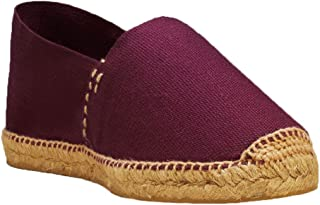 DIEGOS Women's Men's Espadrilles. Hand Made in Spain. (EU 41, Burgundy)