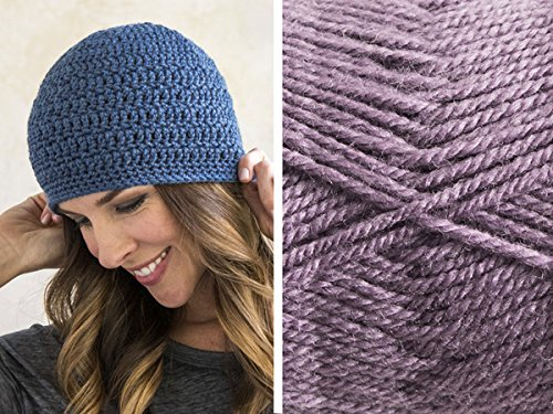 Craftsy Sprightly Easy Worsted Crochet Beanie: Yarn and Printed Pattern (Misty Purple)