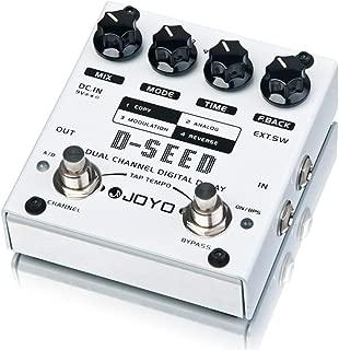 JOYO D-SEED-I Delay and Looper, Dual Channel Digital Delay, Guitar Multi Effects Pedal