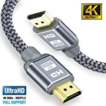 4K HDMI Cable 2M HDMI Lead, Snowkids Ultra High Speed 18Gbps HDMI 2.0 Cable (4K@60Hz) Support Fire TV, Apple TV, Video UHD 2160p, HD 1080p, 3D, Xbox PlayStation PS3 PS4 PC ect