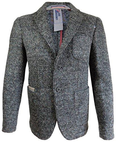 Cabano London Dry Wollblazer Janker Sakko in dunkelgrau Melange (58)