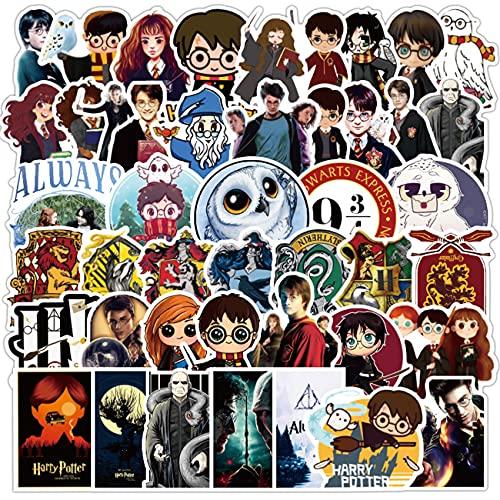 Pegatinas de Harry Potter simyorn 100 Piezas Adhesivo de Harry Potter, Adhesivos únicos y Geniales, Botella de Agua, Cuaderno, Guitarra, Monopatín, Adhesivos para Niños de Viaje