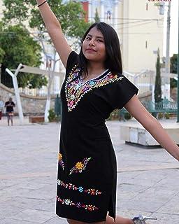 vestido bordado artesanal mexicano