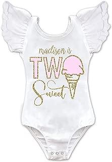 Girls Two Sweet Ice Cream Birthday Leotard