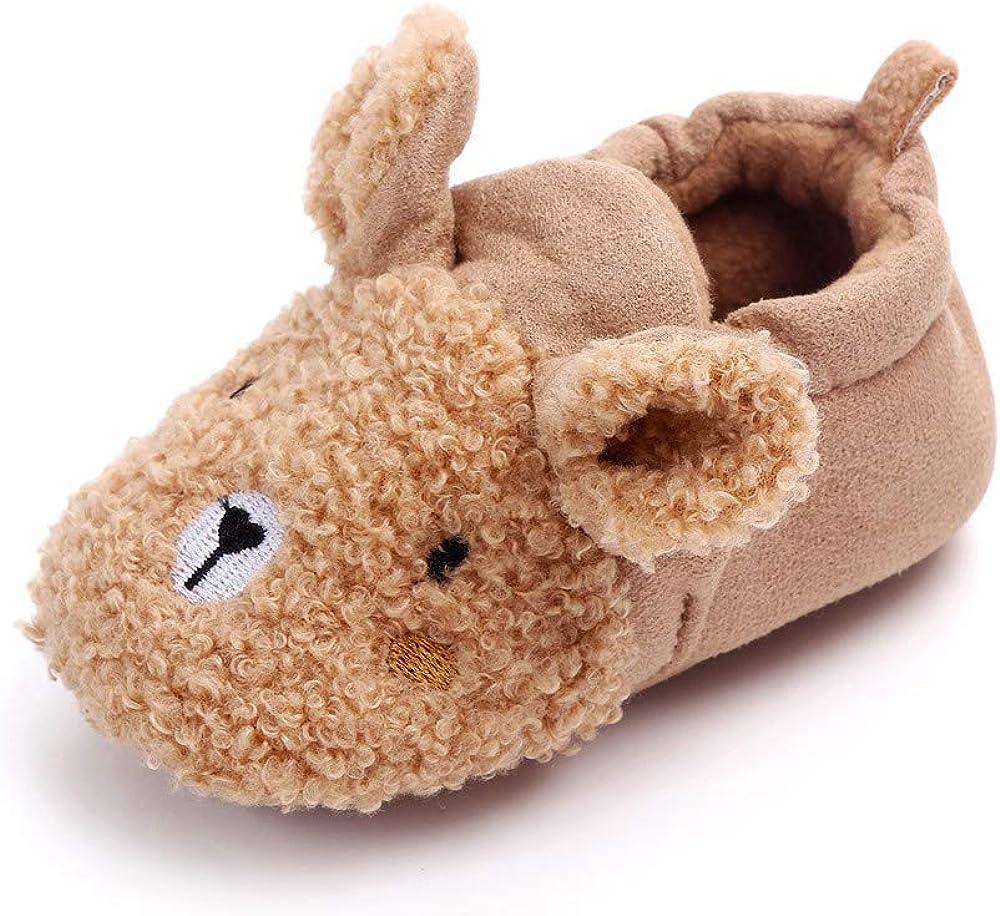 Enteer Infant Grils' Winter Slipper Newborn Warm Crib Shoes