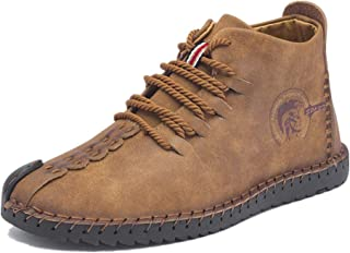 Another Summer Men's Classic Casual Business Fur Lined Leather Chukka Boots