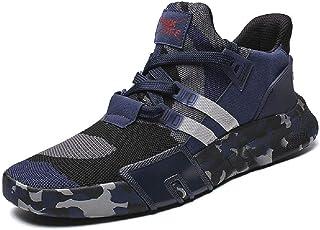JIYE Mens Fashion Sneakers Running Shoes Lightweight Casual Camouflage Walking Shoe