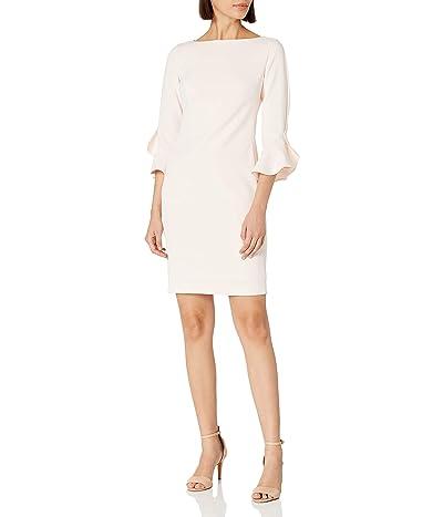 Karl Lagerfeld Paris Tulip Sleeve Crepe Dress