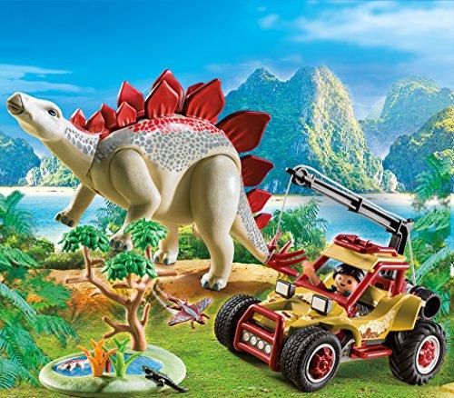 PLAYMOBIL Dinos Vehículo Explorador con Estegosaurio y Cabrestante de Cable, a Partir de 4 Años (9432)