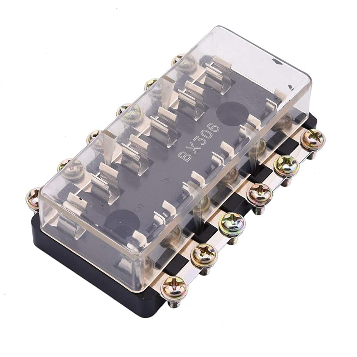 Cacys-Store - Universal 12V 6 Way Fuse Box Block Fuse Holder Box Car Vehicle Circuit Automotive Blade For AGC & JSO Fuses