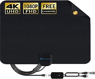 Antenna TV Digital HD indoor - 2020 Newest Digital Antenna for HDTV 120 Miles Range, Support 4K 1080p, HDTV Antenna indoor with 18ft Coax Cable, TV Antennas for Digital tv indoor, Best One by SohoTech