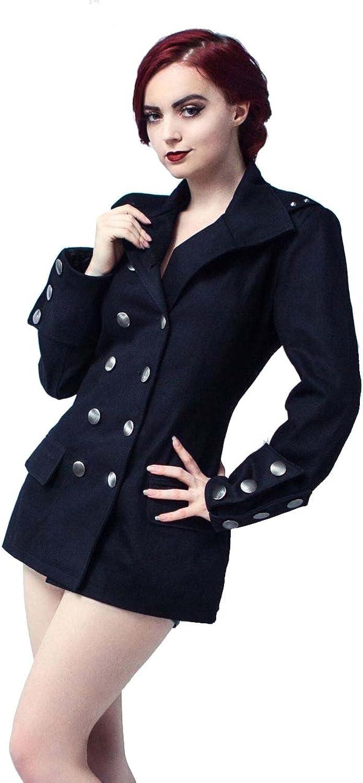 Women's Steampunk Military Jacket Top msp