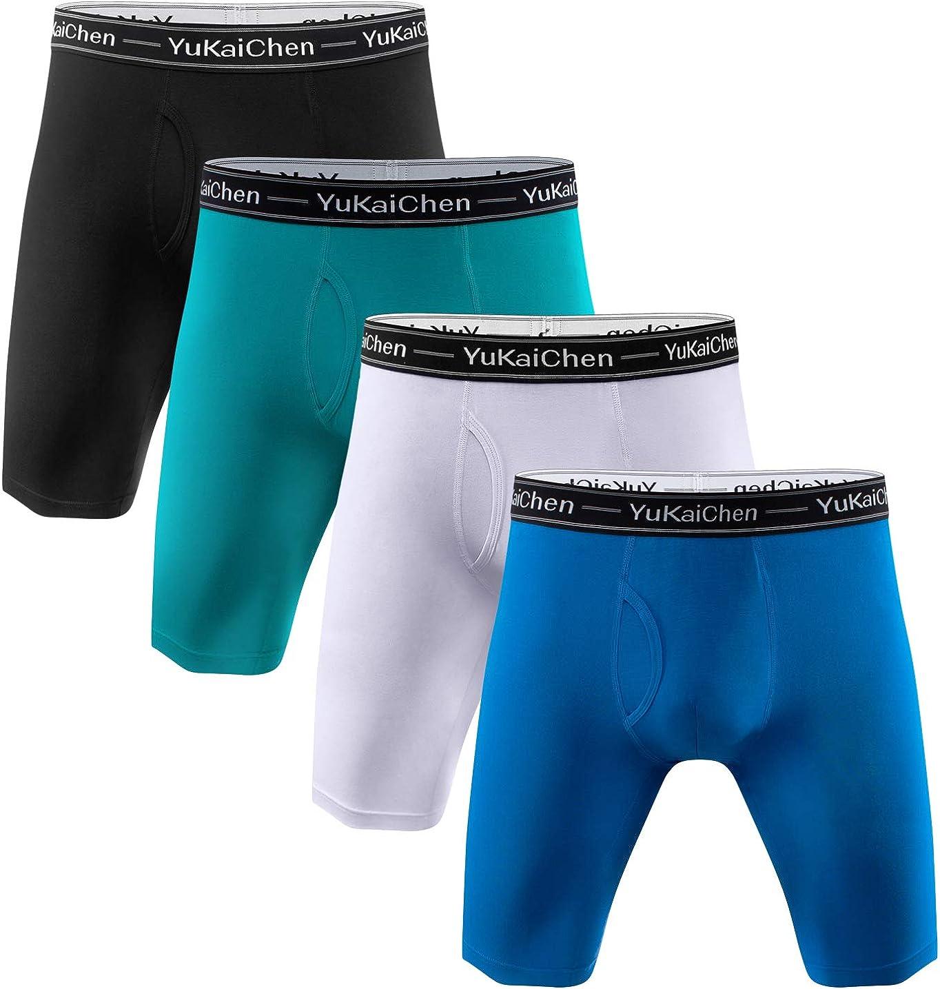 YuKaiChen Directly managed store Men's Soft Bamboo Fiber Long Briefs Boxer Fu 2021 new Underwear