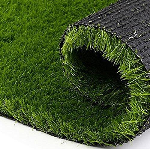 """Kuber Industries PVC 45 MM Artificial Grass Door Mat - 24""""x 15.2"""", Green (Grass0114)"""
