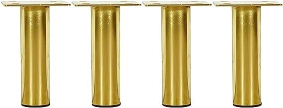 Furniture Legs 13/15/17 cm meubelpoten, metalen tafelpoten, voor bank, kast, vervanging, goud/zwart, 4 stuks