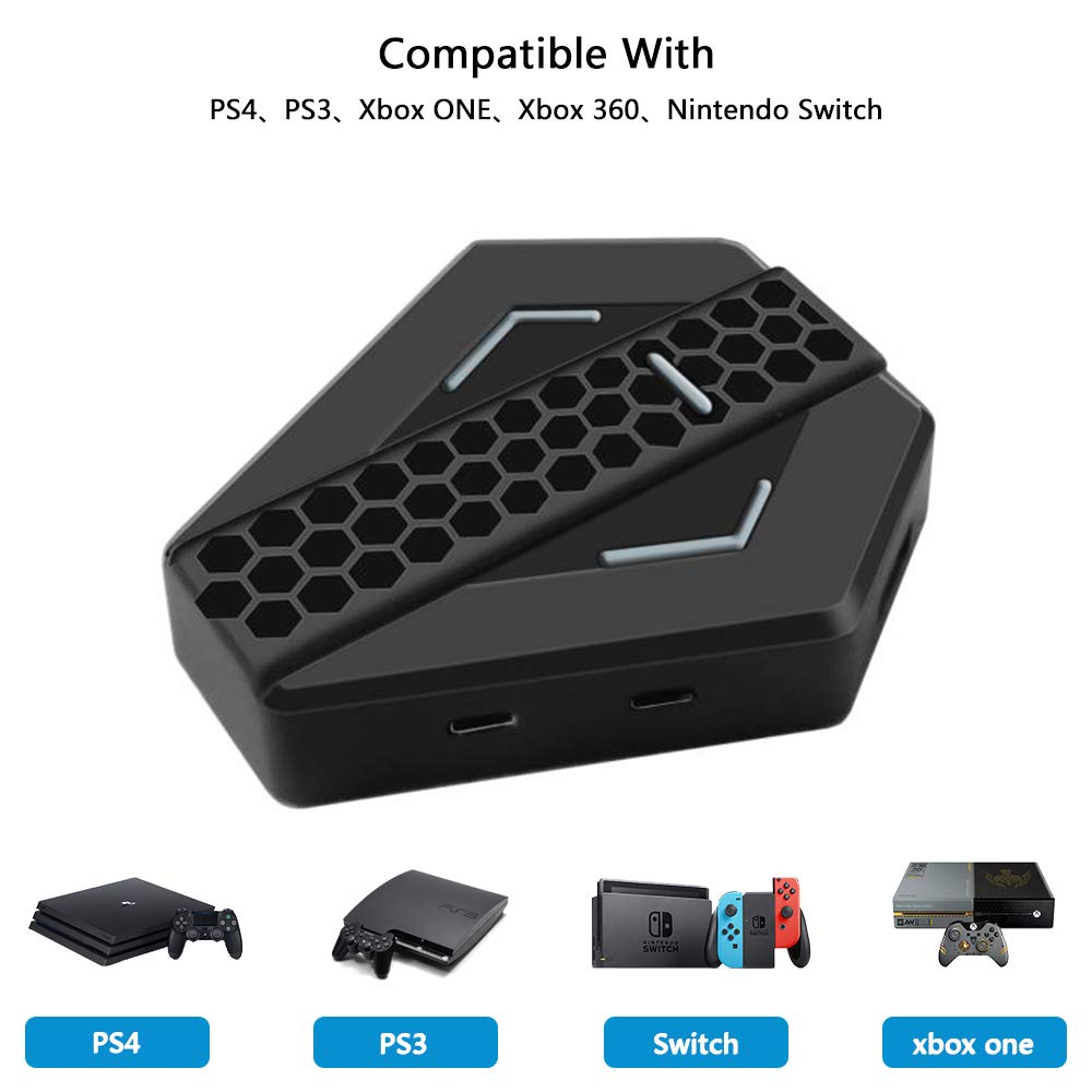 Adaptador de Teclado y Ratón, USB Convertidor Compatible con PS4, PS3, Xbox One, Xbox 360 y Nintendo Switch para Juegos FPS: Amazon.es: Videojuegos