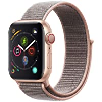 Apple Watch Series 4 40mm GPS & Cellular Smartwatch with Pink Sand Sport Loop (Gold Aluminium Case)