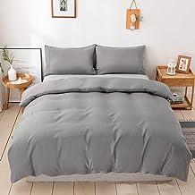 Duvet Cover Set's【Grey】Duvet Quilt Comforter Cover 1000TC Ultra Soft Microfiber Wrinkle & Stain Resistant Cover Bedding Se...
