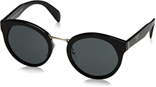 Prada PR05TS 1AB1A1 Black PR05TS Round Sunglasses Lens Category 3 Size 53mm