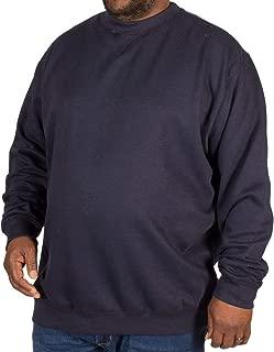 D555 Big Mens Milburn Black Plain Full Zip Sweater 2XL 3XL 4XL 5XL
