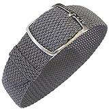 Eulit Kristall 18mm Grey Perlon Watch Strap