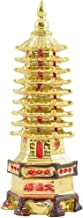 odishabazaar Golden Feng Shui Education Tower for Academic Success for Child's Study Table, Yellow, Standard (Edu-Tower-1)