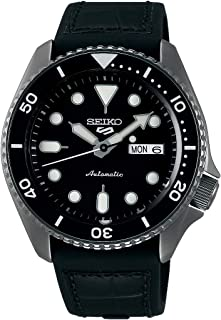 Seiko 5 FACELIFT, 10 Bar water resistant, Calendar, Black Men's watch, SRPD65K3