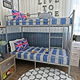 Panana 2 x 3FT Single Metal Bunk Bed 2 Persons Bed Frame Children Twins Bedroom Furniture (Silver Bunk Bed)
