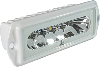 Lumitec Capri2 LED Flood Light, Flush Mount, Dual Color, Powder Coat Housing