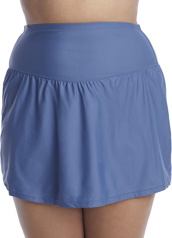 Plus Size Alicante Solids Bravo Skirted Bikini Bottom