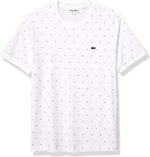 Men's Short Sleeve Pique Mini Pattern Tee Shirt Reg