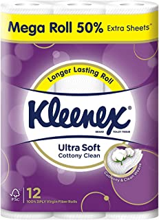 Kleenex Ultra Soft Mega Roll Bath Tissue, 12 Count