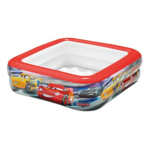 Intex 57101NP - Piscina bebé hinchable cuadrada de Cars, 85 x 85 x 23 cm