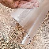 G&F Mantel PVC Escarchado Protector Mesa Transparente 1mm Plastico Manteles Limpiable para Escritorio Mesa Comedor (Color : Frosted, Size : 60x120cm/24x47in)