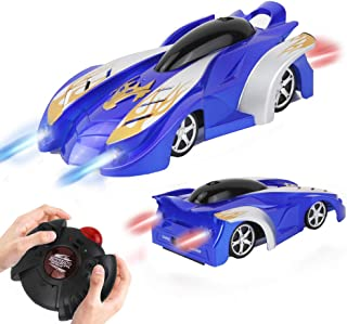 WISHTIME Remote Control Car, Kids Toys Wall Climbing Car Dual Modes 360°Rotation Stunt RC Cars Vehicles Toys Children Games Funny Gifts Cool Gadgets for Boys Girls Teenagers Adults (Blue)